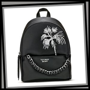 VICTORIA'S SECRET Sequin Palms Small City Backpack